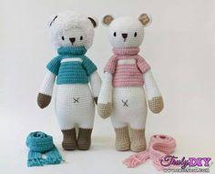 Bildergebnis für Lalylala by Liesign Crochet Amigurumi, Crochet Bear, Crochet Doll Pattern, Cute Crochet, Amigurumi Doll, Crochet Animals, Amigurumi Patterns, Crochet Dolls, Crochet Patterns