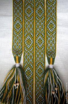 Купить Тканый на дощечках пояс Песнь Земли - пояс женский, тканый пояс, ткачество на дощечках