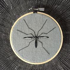 Een persoonlijke favoriet uit mijn Etsy shop https://www.etsy.com/listing/238664824/embroidery-hoop-art-daddy-long-legs