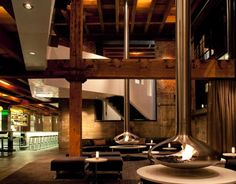 5 SAN FRANCISCO RESTAURANTS WORTH CHECKING OUTOriginally built in a meatpacking and smokehouse facility, Twenty Five Lusk has managed to maintain hints of the original warm brick and aged wooden beams while introducing a new modern interior. Restaurant Hotel, Restaurant Design, Restaurant Interiors, Restaurant Ideas, Hotel Interiors, Suspended Fireplace, San Francisco Restaurants, American Restaurant, Urban Fabric