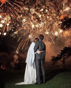 From dramatic fireworks shows to cakes topped with sparklers, see how these stylish couples added sparks to their wedding celebrations.