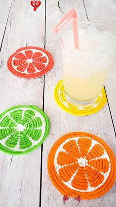 DIY ROPE COASTERS FOR SUMMER  <br> Crafts For Girls, Diy For Girls, Diy And Crafts, Quick Crafts, Felt Flower Pillow, Knitting Room, Knitting Ideas, Fashion Design For Kids, Creative Knitting
