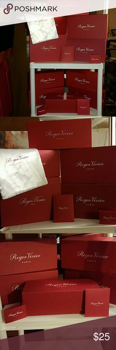 Roger Vivier Paris Shoe Boxes Authentic and in new/excellent CONDITION- 25.00 Each or More for larger size Roger Vivier Shoes