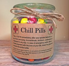 Chill Pill Apothecary Jar for SPOUSE/MARRIED by scripturegifts