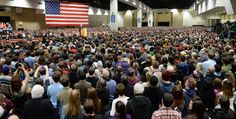 More than 14,000 people came out to hear presidential hopeful Bernie Sanders speak at the St. Paul RiverCentre on Tuesday, January 26, 2016. (Pioneer Press: John Autey)  Thousands of excited Minnesota fans cheered Tuesday night at their first sight of the rumpled, white-haired, New York-accented 74-year-old who is breathing new life into their political dreams.