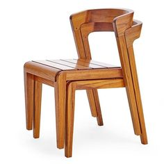 Stacking Dining Chairs in Oiled Teak