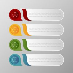 Infographics Banners Template Multicolor Vector Set And Text Box For Presentation Layout. Powerpoint Slide Designs, Powerpoint Design Templates, Creative Powerpoint, Free Infographic Templates, Infographic Powerpoint, Web Design, Graphic Design Trends, Graphic Design Brochure, Maquette Site Web