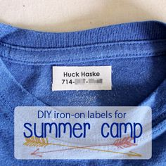 DIY Iron-On Labels for Summer Camp