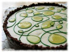 """Orange - mango cake, no glutein, no milk, vegan. This is also from """"kinuskikissa"""" baking blog."""