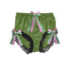 SF12 Royal Blue New Shiny Granny Briefs Nylon Panties Women Men Male