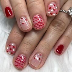We have 50 Valentine's Day Nails You've Never Seen Before! All of these Valentine's Day Nails are completely unique and we guarantee you wil Valentine's Day Nail Designs, Acrylic Nail Designs, Acrylic Nails, Nail Art Grunge, Toe Nails, Pink Nails, Valentine Nail Art, Nails For Valentines Day, Valentine Gifts