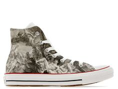 Angels and demons illustrated custom converse high by R2D2Designs
