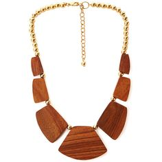 FOREVER 21+ PLUS SIZES Earthy Wooded Bib Necklace ($7.80) ❤ liked on Polyvore featuring jewelry, necklaces, short chain necklace, wooden necklaces, chains jewelry, bib jewelry and wooden chain necklace