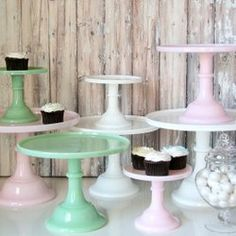 Cake + Cupcake Stands This is the best website for party supplies! <3