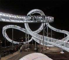 "No need to strap in for a ""ride"" on this walkable roller coaster"