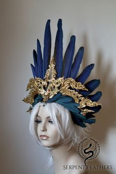 Shop Headdresses on Etsy ::: To request a custom headdress, Contact Ka. Character Inspiration, Style Inspiration, Fantasy Costumes, Fairy Costumes, Headdress, Costume Design, Wearable Art, Fascinator, Wigs