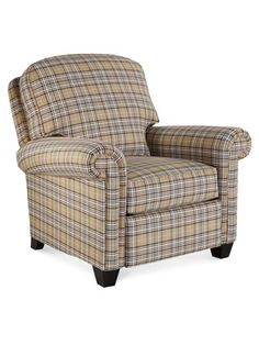 French Chair With Buffalo Plaid Fabric Our Home
