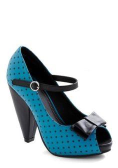 To the Pointillism Heel | Mod Retro Vintage Heels | ModCloth.com