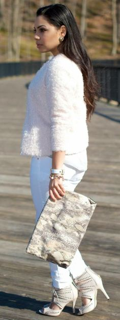 Spring White Jeans by Alana Marie