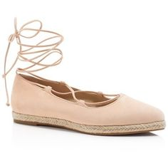 Michael Kors Collection Cadence Lace Up Espadrille Flats