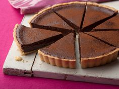 Chocolate Tart | from Tyler Florence | on FoodNetwork.com | Most decadent chocolate desert ever. A chocolate truffle in a pie shell!