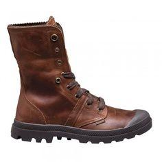 Palladium Pallabrouse Baggy Plus 2 Boots Mahogany/ Dull Gold