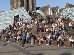 Heerlijk terrasweer in Groningen.