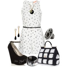 Black and white by mshyde77 on Polyvore featuring polyvore, fashion, style, Oh My Love, Dolce