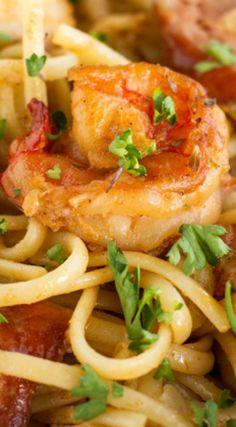 One-Pot Cajun Shrimp & Sausage Pasta Recipe