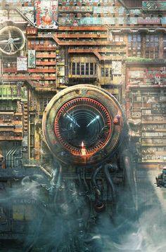 Great Cyberpunk - Anime City concepts for Lego! Ville Cyberpunk, Cyberpunk City, Arte Cyberpunk, Futuristic City, Cyberpunk Anime, Cyberpunk Fashion, Sci Fi Environment, Environment Design, Sci Fi Fantasy