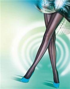 Pretty Polly - Pretty Versatile Panelled Mesh Tights - Black