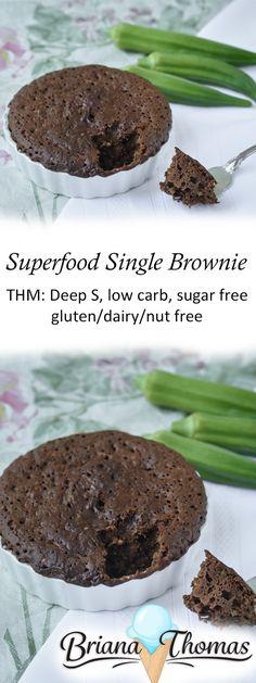 Superfood Single Brownie, (more like a chocolate cake, great way to get veggies in, Deep S)