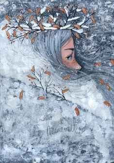 Winter Love, Beautiful Dream, Art For Art Sake, Illustrators, Fantasy Art, Fairy Tales, Illustration Art, Drawings, Artwork