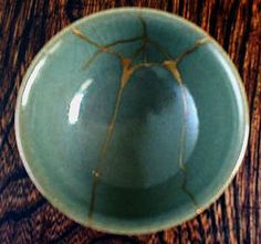 margaret-cooter: Kintsukuroi***application of a beautiful Japanese principal***repair of imperfections, cracks, breaks or flaws illustrating by filling in, here in gold, to show the imperfections***and by so acknowledging, becoming more special *** such a beautiful perspective ~