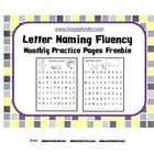 FREE!  Use these practice pages to have students work on saying randomly letters names fast.  Give them to students with one minute timers, have your whol...