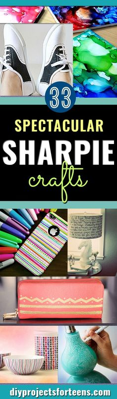 Cool Sharpie Crafts Ideas- Cool DIY Ideas with Sharpies for Teens and Tweens - Mugs, Room Decor, Pillows, Shoes and More: