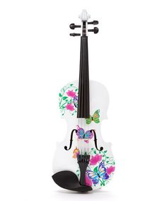 This White Butterfly Dream II Violin Set is perfect! This White Butterfly Dream II Violin Set is perfect! Piano Y Violin, Violin Instrument, Violin Art, Violin Music, Piano Keys, All Music Instruments, Cool Violins, White Glitter, Glitter Shoes