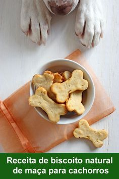 Ginger Apple Dog Treat Recipe (Lola the Pitty) Dog Treats Grain Free, Diy Dog Treats, Healthy Dog Treats, Healthy Pets, Yummy Treats, Dog Biscuit Recipes, Dog Treat Recipes, Dog Food Recipes, Homemade Dog Cookies