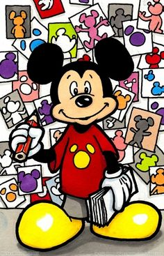 A sweet husband draws Mickey for his wife - everyday for a year! This is a link to his gallery of 365 Mickeys.