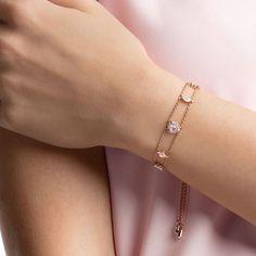 Swarovski One Bracelet, Multi-colored, Rose-gold tone plated , Cute Jewelry, Gold Jewelry, Jewelry Accessories, Women Jewelry, Jewellery, Cartier Jewelry, China Jewelry, Bracelets Design, Jewelry Bracelets