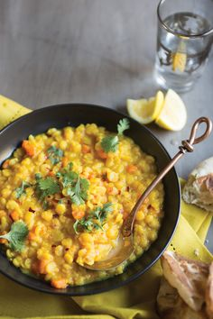 Yellow Split Pea Dal (recipe is for rice cooker, but in comments, it says you can cook on high for 4 hrs in slow cooker).