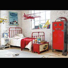 blog o wnętrzach dla dzieci, inspiracje : Czerwony akcent. Trzy pomysły na pokój chłopca.