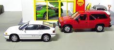 Tomica Limited Vintage Neo: LV-N35c Honda Ballad Sports CR-X Si('85) + LV-N47a Nissan Pathfinder Terrano R3M tomicarama shell