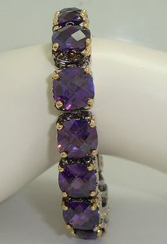 Designer Inspired Purple Crystal Bracelet. Count Edwards Cz Fashion Bracelet, Best Selling Bracelet Is Rhodium Plating, Accented with an Antique Cable Design, Bracelet Has Rectangle Swarovski Cz's, Accented in 18kt Heavy Gold Plate Hail Mary Gifts, http://www.amazon.com/dp/B00BLS4GOG/ref=cm_sw_r_pi_dp_WB2prb1GDYAWC