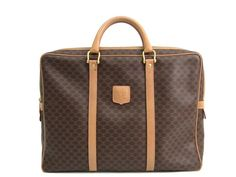 #CELINE Briefcase Macadam PVC/Leather Brown/Beige (BF301554). #eLADY global accepts returns within 14 days, no matter what the reason! For more pre-owned luxury brand items, visit http://global.elady.com