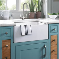 Colonial Brushed Steel Double White Ceramic Handle Kitchen Sink Mixer Tap 7018 £60 inc VAT
