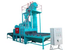 Stone Shot Blasting Machine  Stone #ShotBlasting Machine can feed a high efficient continuous operation which has large processing batch for its cleaning process.