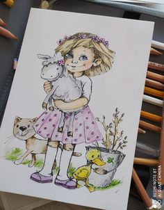 I love crayons - Colouring picture by Eva Hanoutová Crayons, Colouring, Creativity, My Love, Anime, Pictures, Color, Art, Photos