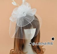 Wholesale 2016 New Arrive Bridal Hats Cheap Modest Fascinator Hat Vintage Hats Hot Sale Tulle Sexy For Party Accessories Fashion