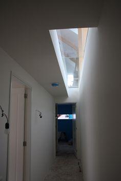 Glazen vloer voor licht in souterrain